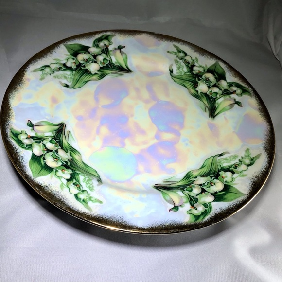 Vintage May Lily of the Valley Lustreware Japan